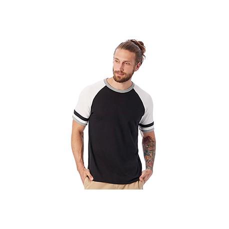 5093BP Alternative 5093BP Men's Slapshot Vintage Jersey T-Shirt BLACK/WHT/SMKE