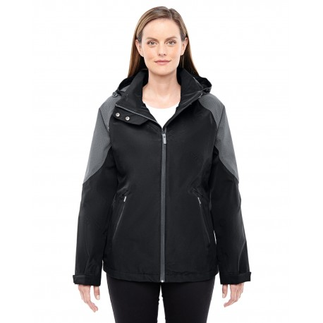 78808 North End 78808 Ladies' Impulse Interactive Seam-Sealed Shell BLCK/CARBON 703