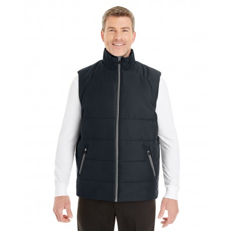 NE702 North End NE702 Men's Engage Interactive Insulated Vest BLCK/GRPHTE 703