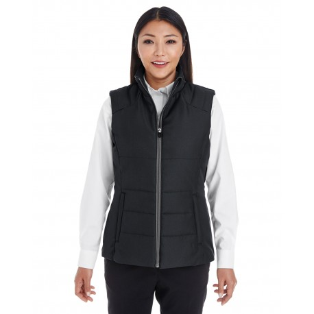 NE702W North End NE702W Ladies' Engage Interactive Insulated Vest BLCK/GRPHTE 703