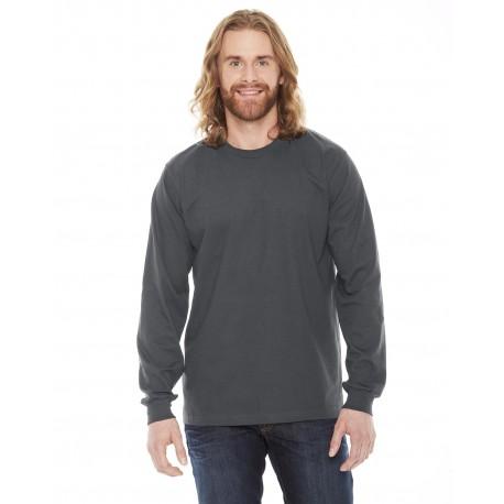 2007 American Apparel 2007 Unisex Fine Jersey USA Made Long-Sleeve T-Shirt ASPHALT