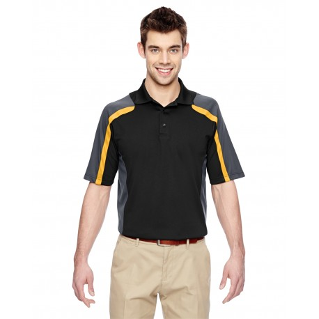 85119 Extreme 85119 Men's Eperformance Strike Colorblock Snag Protection Polo BLK/CMP GLD 464