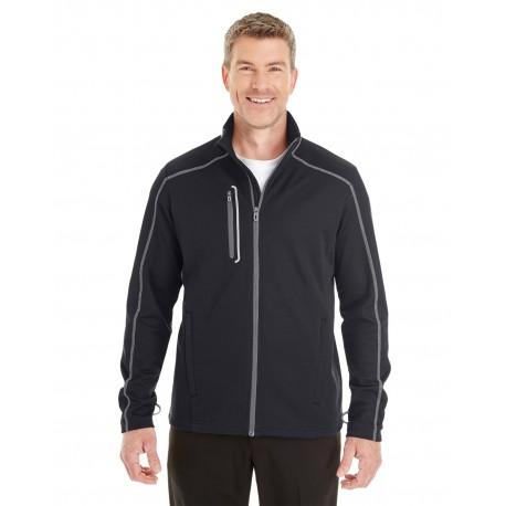 NE703 North End NE703 Men's Endeavor Interactive Performance Fleece Jacket BLK/GR/GR 703