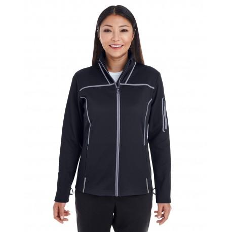 NE703W North End NE703W Ladies' Endeavor Interactive Performance Fleece Jacket BLK/GR/GR 703