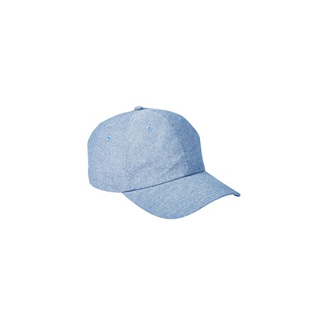 BA614 Big Accessories BA614 Summer Prep Cap BLUE CHAMBRAY