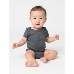 American Apparel 4001W Infant Baby Rib Short-Sleeve One-Piece