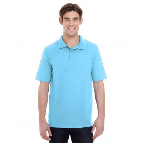 055P Hanes 055P Men's 6.5 oz. X-Temp Pique Short-Sleeve Polo with Fresh IQ BLUE HORIZON
