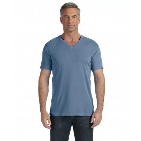C4099 Comfort Colors C4099 Adult Midweight RS V-Neck T-Shirt BLUE JEAN
