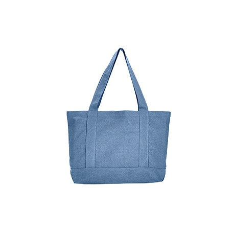 8870 Liberty Bags 8870 Seaside Cotton Canvas 12 oz. Pigment-Dyed Boat Tote BLUE JEAN