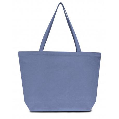 LB8507 Liberty Bags LB8507 Seaside Cotton 12 oz. Pigment-Dyed Large Tote BLUE JEAN