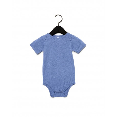 134B Bella + Canvas 134B Infant Triblend Short-Sleeve One-Piece BLUE TRIBLEND