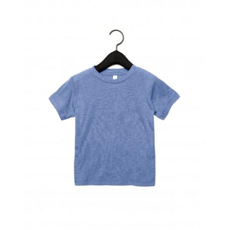 3413T Bella + Canvas 3413T Toddler Triblend Short-Sleeve T-Shirt BLUE TRIBLEND