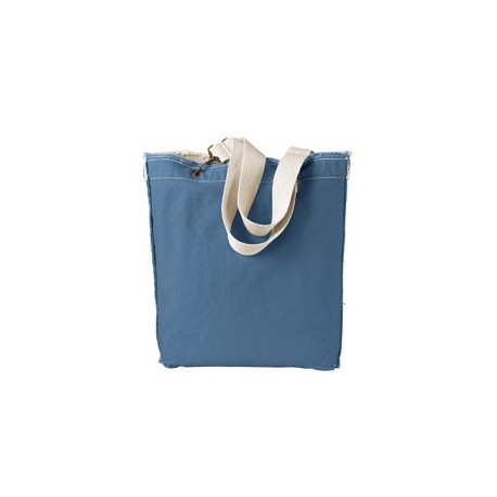 1906 Authentic Pigment 1906 14 oz. Direct-Dyed Raw-Edge Tote BLUEGRASS