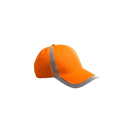 BX023 Big Accessories BX023 Reflective Accent Safety Cap BRIGHT ORANGE