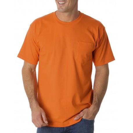 BA1725 Bayside BA1725 Adult Pocket T-Shirt BRIGHT ORANGE