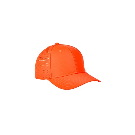 BA537 Big Accessories BA537 Performance Perforated Cap BRIGHT ORANGE