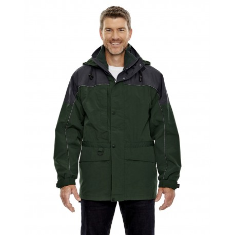 88006 North End 88006 Adult 3-in-1 Two-Tone Parka ALPINE GREN 723