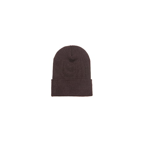 1501 Yupoong 1501 Adult Cuffed Knit Beanie BROWN