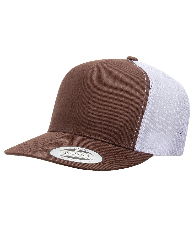 6006 Yupoong BROWN/WHITE