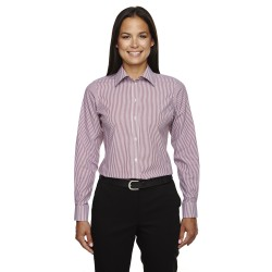 Devon & Jones D645W Ladies' Crown Woven Collection Banker Stripe