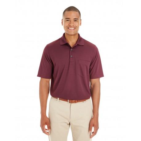88181P Core 365 88181P Men's Origin Performance Pique Polo with Pocket BURGUNDY 060