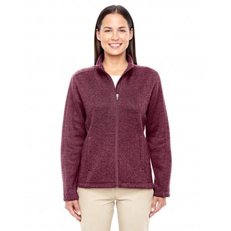 DG793W Devon & Jones DG793W Ladies' Bristol Full-Zip Sweater Fleece Jacket BURGUNDY HEATHER