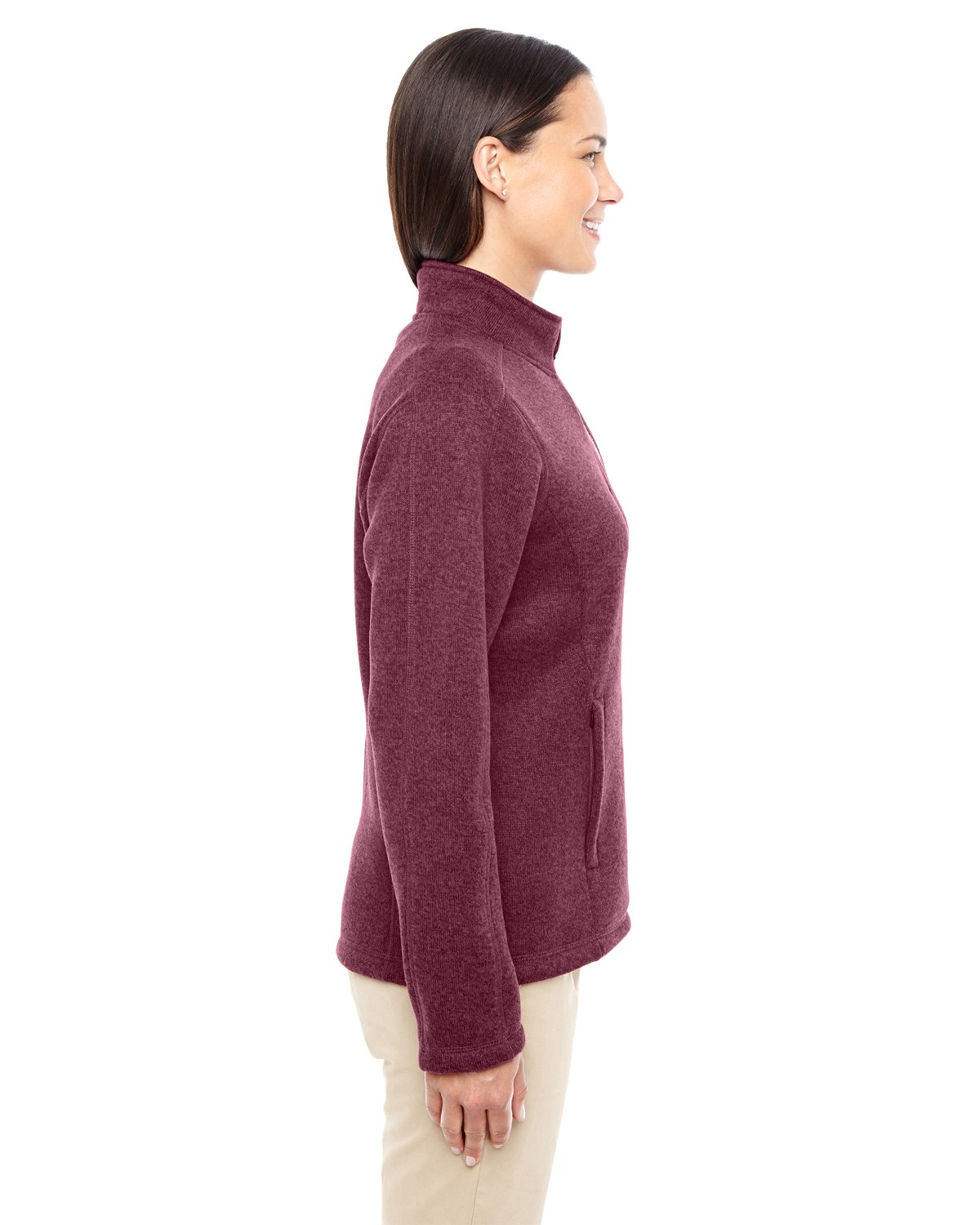 DG793W Devon & Jones BURGUNDY HEATHER