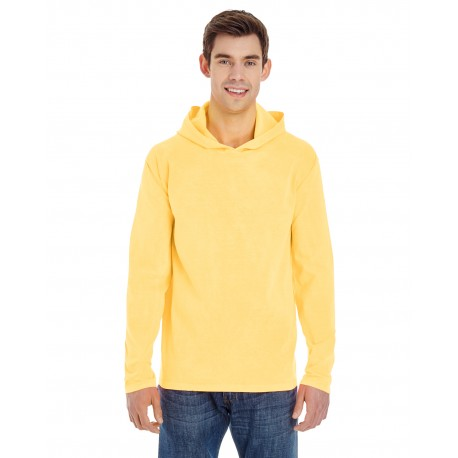 4900 Comfort Colors 4900 Adult Heavyweight RS Long-Sleeve Hooded T-Shirt BUTTER