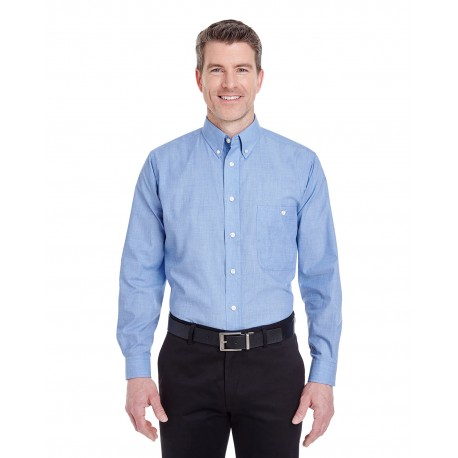 8340 UltraClub 8340 Men's Wrinkle-Resistant End-on-End CADET BLUE