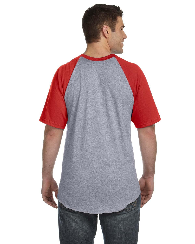 423 Augusta Sportswear ATH HTHR/RED