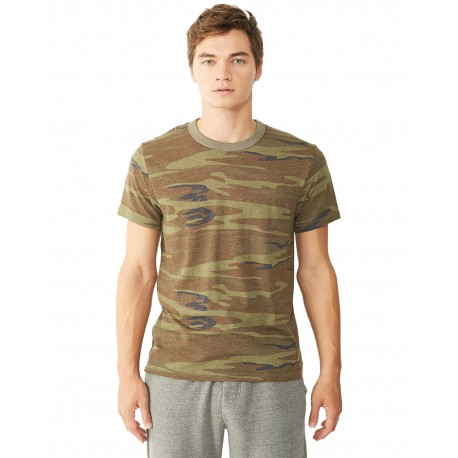 01973EA Alternative 01973EA Unisex Printed Eco-Jersey Crew CAMO