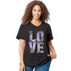 Just My Size GTJ181 Y05546 Big Love Short Sleeve Graphic Tee