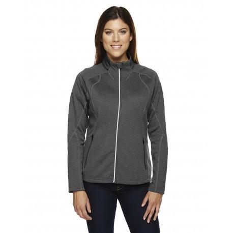 78174 North End 78174 Ladies' Gravity Performance Fleece Jacket CARBN HEATH 452