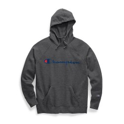 Champion W0934G Y07418 Womens Powerblend Fleece Pullover Hoodie Script Logo