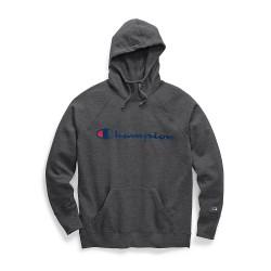 Champion W0934G Y07418 Womens Powerblend Fleece Pullover Hoodie Script Logo