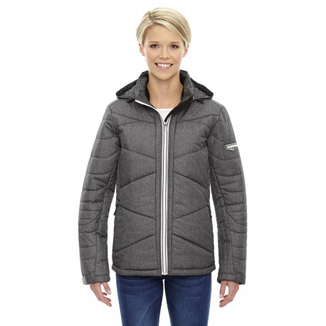 78698 North End 78698 Ladies' Avant Tech Melange Insulated Jacket with Heat Reflect Technology CARBN HEATH 452