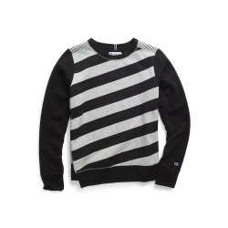Champion W3130 Women Heritage Fleece Asymmetrical Stripe Crew