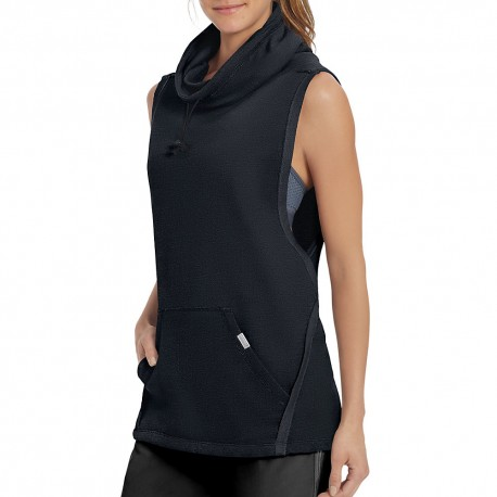 W50067 Champion W50067 Womens French Terry Sleeveless Pullover BLACK