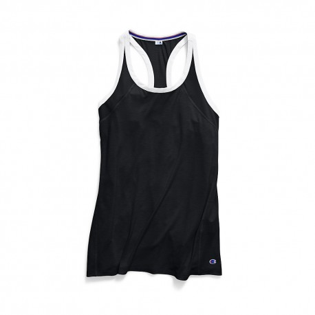 W9283 Champion W9283 Womens Gym Issue Tank BLACK/WHITE