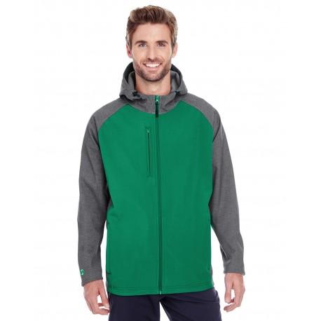 229157 Holloway 229157 Men's Raider Soft Shell Jacket CARBN PRT/FORST
