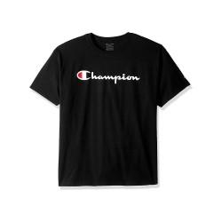 Champion OT435A Y07858 Champion Boys Jersey Tee, Script Logo
