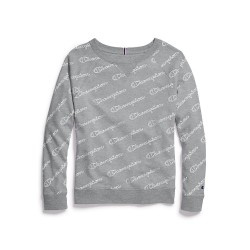 Champion QW925P Champion Womens Plus Heritage French Terry Print Crew