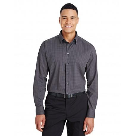 DG535 Devon & Jones DG535 Men's CrownLux Performance Tonal Mini Check Shirt CARBON