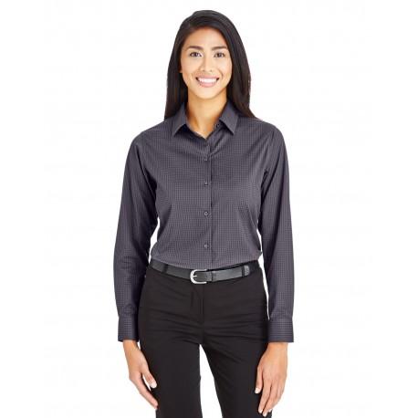 DG535W Devon & Jones DG535W Ladies' CrownLux Performance Tonal Mini Check Shirt CARBON
