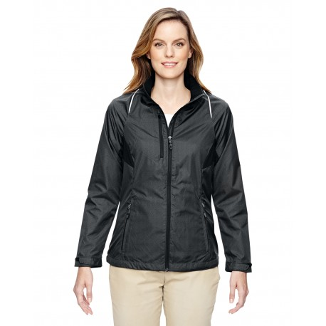 78200 North End 78200 Ladies' Sustain Lightweight Recycled Polyester Dobby Jacket with Print CARBON 456