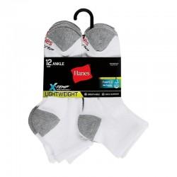 Hanes LTAC16 Mens FreshIQ X-Temp Ankle Socks 12-Pack