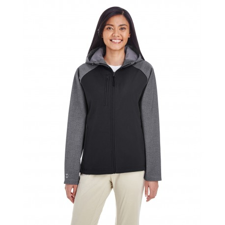 229357 Holloway 229357 Ladies' Raider Soft Shell Jacket CARBON PRT/BLCK