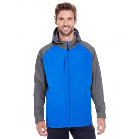 229157 Holloway 229157 Men's Raider Soft Shell Jacket CARBON PRT/ROYL