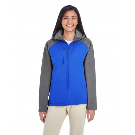 229357 Holloway 229357 Ladies' Raider Soft Shell Jacket CARBON PRT/ROYL