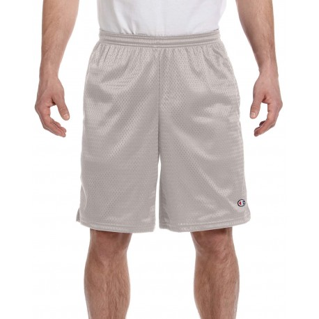 81622 Champion 81622 / S162 Adult 3.7 oz. Mesh Short with Pockets ATHLETIC GREY